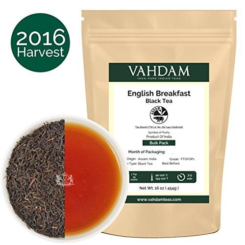 English Breakfast Loose Leaf (Lose Blätter) Tee (225 Tassen), Stark & Vollmundig, 100% Assam Region Breakfast Tee, Direkt aus Indien, 454g