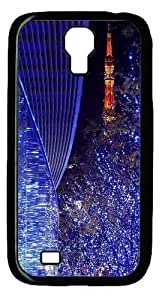 Cool Painting Samsung Galaxy I9500 Case and Cover -Blue lights and reflections Polycarbonate Hard Case Back Cover for Samsung Galaxy S4/I9500