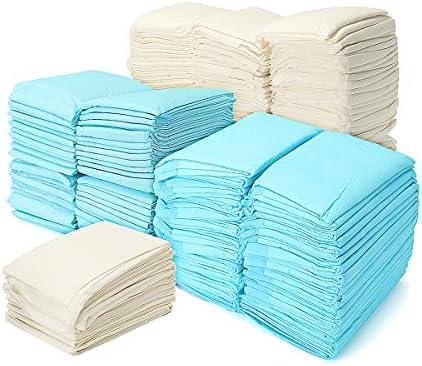 Alfombrillas de entrenamiento para inodoro, muy absorbentes, para gatos, perros, desodorantes, pañales absorbentes, almohadillas en color al azar (paquete ...