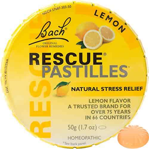 Bach Rescue Remedy Natural Stress Relief Pastilles Lemon Flavor 1.7 oz