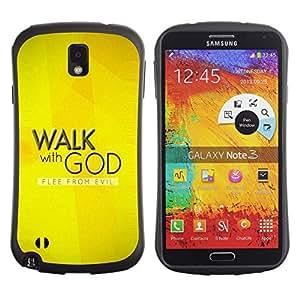 Suave TPU GEL Carcasa Funda Silicona Blando Estuche Caso de protección (para) Samsung Note 3 / CECELL Phone case / / BIBLE Walk With God /