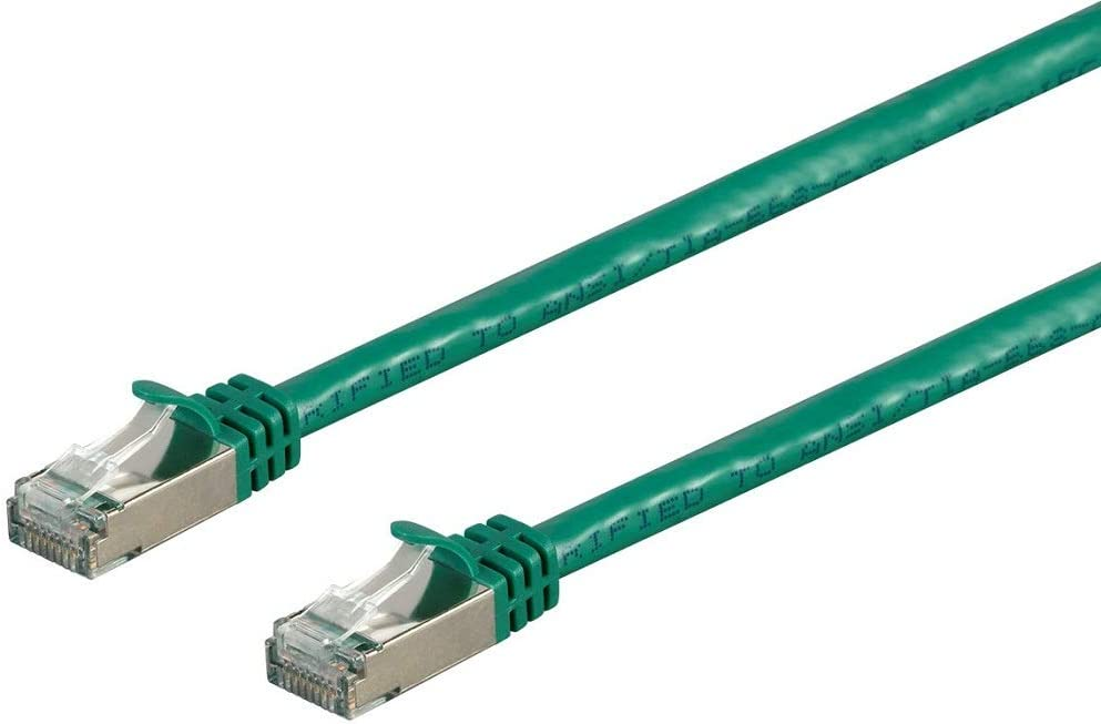 - Entegrade Series Monoprice Cat7 Ethernet Network Patch Cable 26AWG 0.5 feet S//FTP Shielded, Black