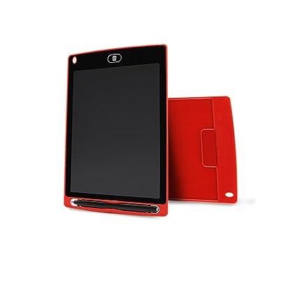 Pizarra Digital de 8.5 Pulgadas con Pantalla LCD para Escribir en la Tableta, para Escribir en la Oficina, para niños y niños Rosso