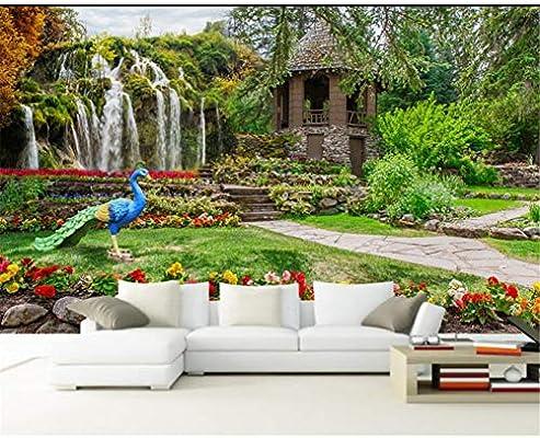 Personalizar cualquier tamaño de papel tapiz mural foto back jardín paisaje cascada paisaje fondo pared 3d papel tapiz papel tapiz: Amazon.es: Bricolaje y herramientas
