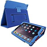 iPad Air (iPad 5) Case, SnuggTM - Smart Cover with Flip Stand & Lifetime Guarantee (Electric Blue Leather) for Apple iPad Air (2013)