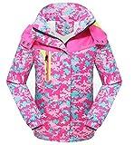 Roseate Girl's Athletic Jacket Camouflage Waterproof Outerwear