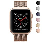 Apple Watch Band 38mm, KYISGOS Strong Magnetic Milanese Loop Stainless Steel Replacement iWatch Strap for Apple Watch Series 3 Nike+ Sport and Edition, Champagne Gold (Same Color as Series 3 Gold)