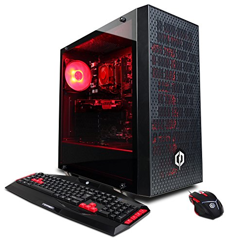 CYBERPOWERPC Gamer Ultra GUA3120CPG Desktop Gaming PC (AMD FX-6300 3.5GHz, 8GB DDR3, AMD R7 240 2GB, 1TB HDD, 802.11 AC WiFi Adapter, Gaming Keyboard/Mouse & Win 10 Home) Black