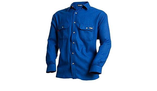 6b65988a083 TECGEN Men s Blue Fr Deluxe Long Sleeve Shirt Royal Blue X-Large at Amazon  Men s Clothing store  Work Utility Shirts