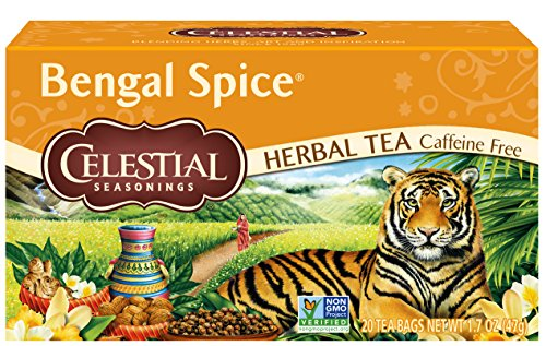 Celestial Seasonings Black Tea Honey - Celestial Seasonings Tea, Bengal Spice, 20 Count Box (Pack of 3)
