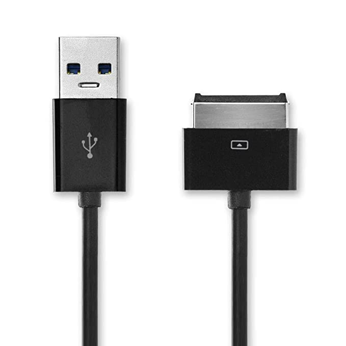 CELLONIC® Cable USB dato (1m) Compatible con ASUS EEE Pad Slider SL101 / Transformer TF101 / TF101G / Prime TF201 / Pad TF300T (40 Pin(Dock Connector) ...