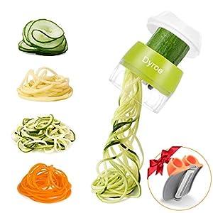 Dyroe Spiralizzatore di Verdure,Tagliapasta per Verdure, 4 in1 Affetta Verdure Spaghetti Multifunzione affetta Verdure… 6