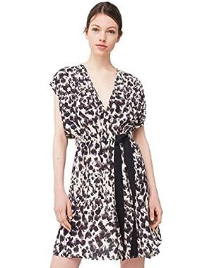 Mango Women's Flowy Print Dress