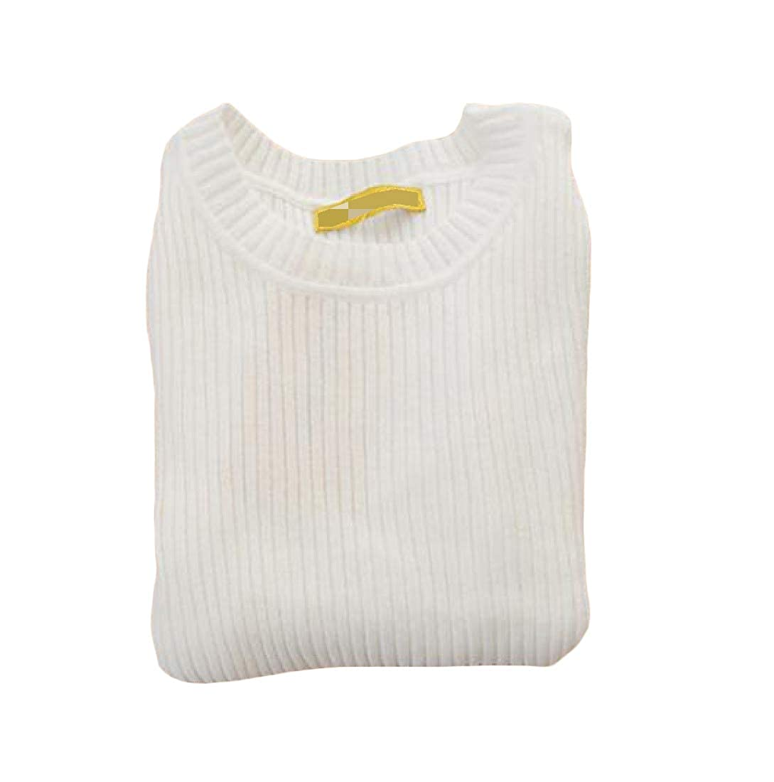 Sweatwater Girls Slim Fit Pullover Pure Color Jumper Knit Sweaters