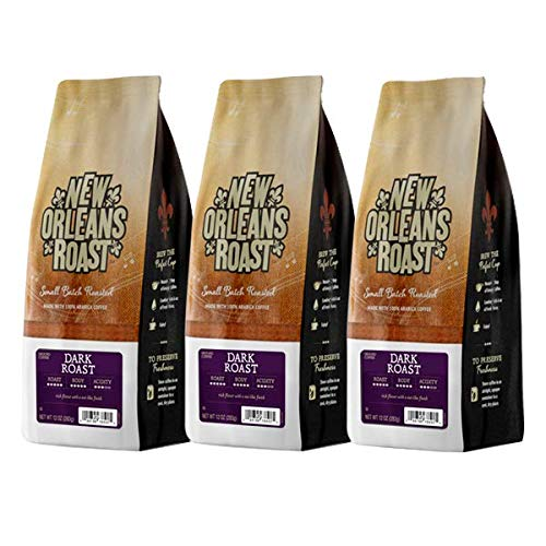 New Orleans Roast Coffee & Tea Dark Roast Ground Coffee, Pack of 3