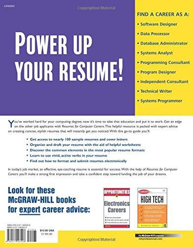resumes for computer careers mcgraw hill professional resumes mcgraw hill education 9780071493208 amazoncom books