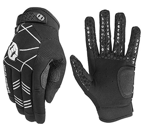 (Seibertron B-A-R PRO 2.0 Signature Baseball/Softball Batting Gloves Super Grip Finger Fit for Adult Black M)