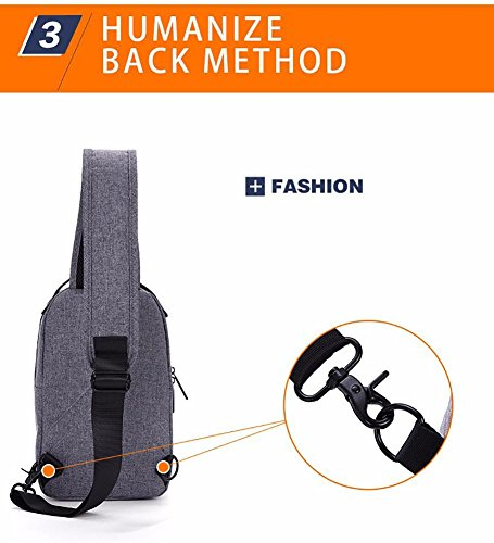 Digital Bags Travel Triangle Shoulder Sling Shoulder Outdoor Men Casual Bag Packs Crossbody Canvas for Daypacks Chest Sport Women Hiking Camera Gym Black Backpack aRE06xqR