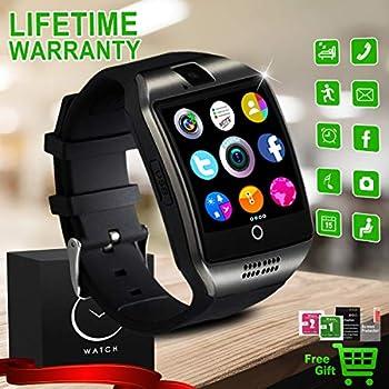 Bluetooth Smart Watch with Camera Waterproof Smartwatch Touch Screen Unlocked Cell Phone Watch Smart Wrist Watch Smart Watches for Android Phones Men Women ...