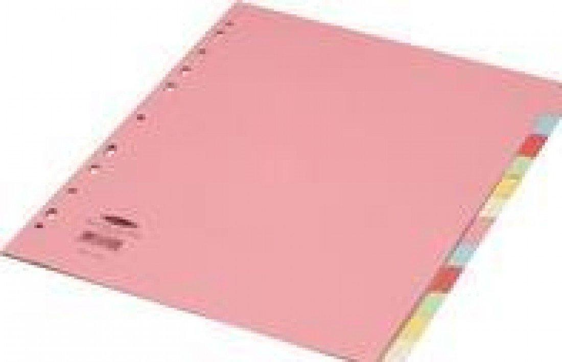 Concord - Separadores para archivador (formato muy ancho, 12 divisiones, tamaño A4, pestañas de colores): Amazon.es: Oficina y papelería