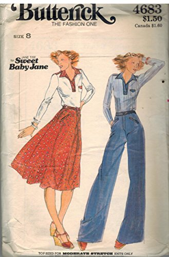 # 4683 Pattern for Top and Pants By Jane Tise (Butterick Size 8 for Knit Fabrics)