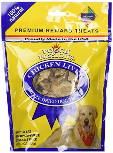 Chicken Liver Treats 3 OZ by Pooch Passions