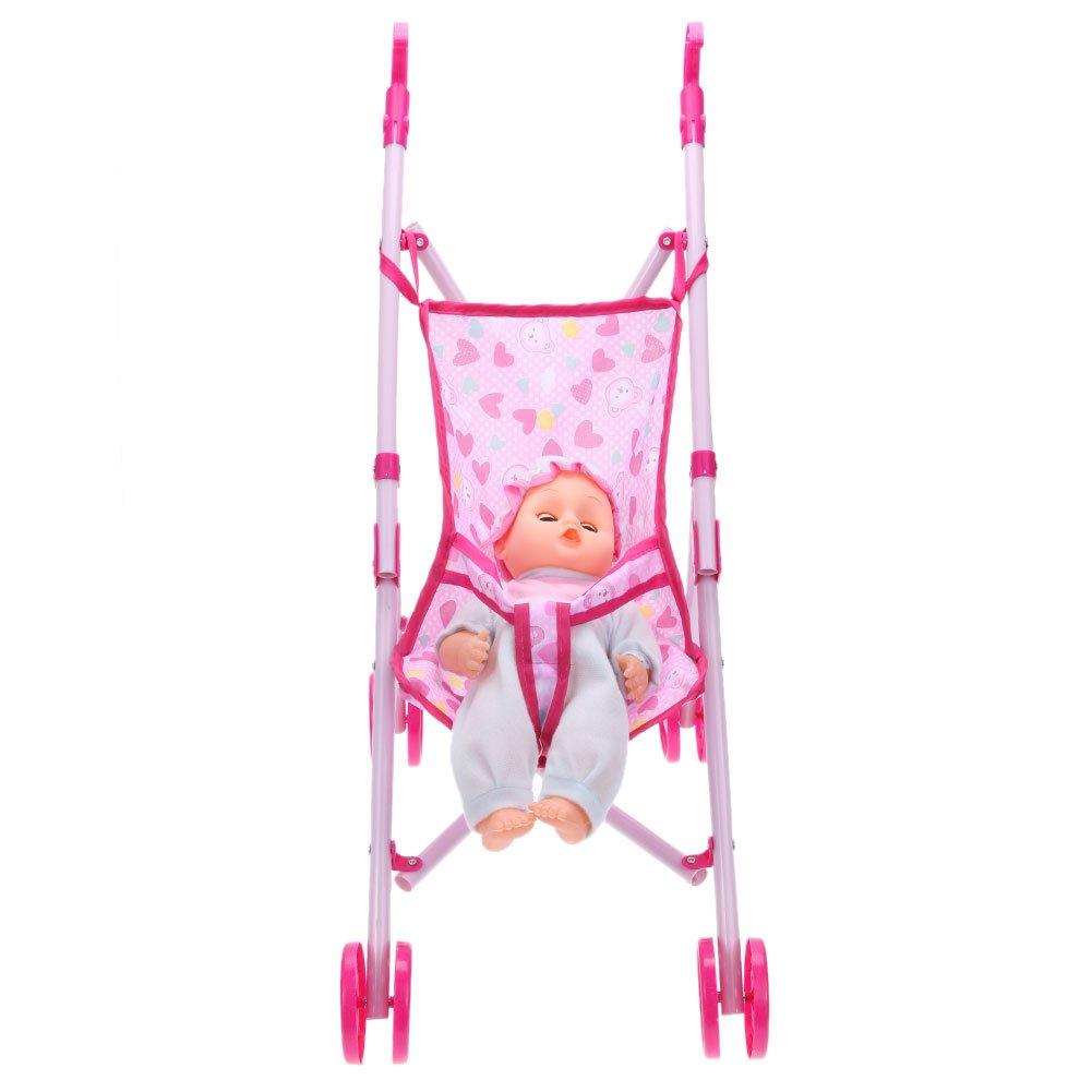 Amazon.com: Akaddy Dolls Buggy Stroller Pushchair Foldable Girls Toy Doll Pram(Random Color): Toys & Games