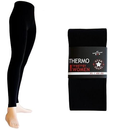 Dealzone 6er Pack Palleon Damen Thermo Leggings mit Innenfleece: Amazon.de:  Bekleidung