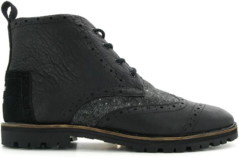 promo codes ever popular brand new Amazon.com   TOMS Men's Leather Fleck Brog Boot 10009177   Fashion ...
