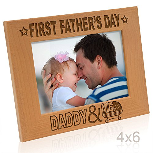 Kate Posh - First Father's Day with Daddy & Me Picture Frame (4x6-Horizontal)