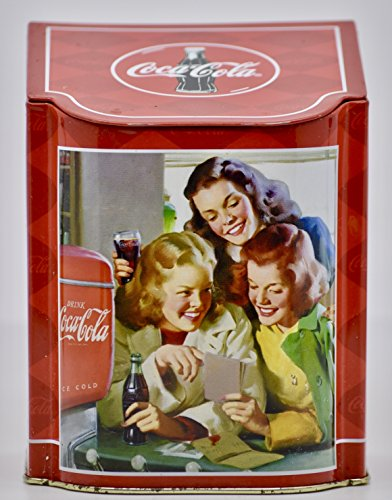 2003 - Coca-Cola Slope Lid Caddy - 5.5x4.5x4 Inches - Tin - Collectible