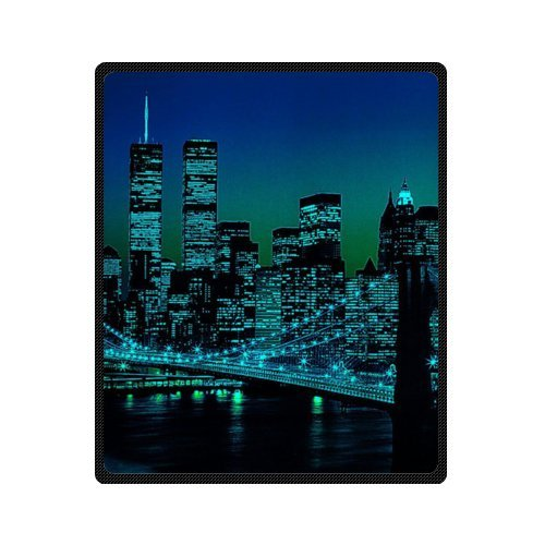 New York City Empire State Style Fleece Throws Blankets 50