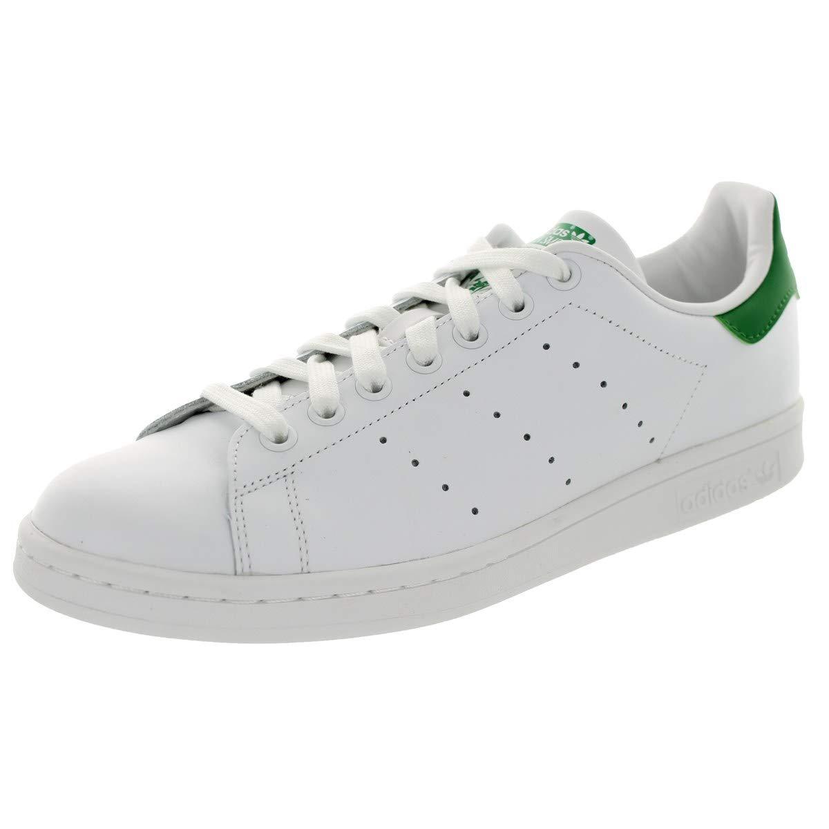 new concept c12e2 a752f Amazon.com   adidas Originals Men s Stan Smith White White Green 6.5 D US    Fashion Sneakers
