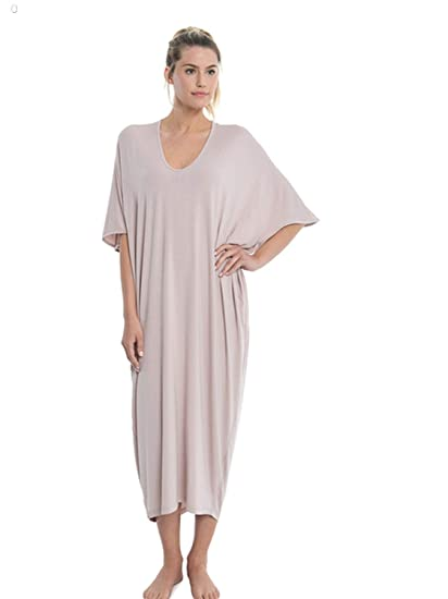 Barefoot Dreams Luxe Milk Jersey Caftan - Faded Rose e514ce954be
