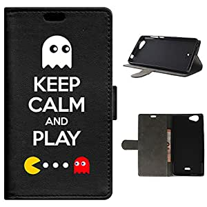 BeCool - Funda carcasa tipo [ Libro ] Wiko Pulp FAB [ Función Soporte ] Keep Calm and Play