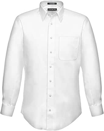 Amazon Com Enro Extra Full Body Stout Mens Big And Tall White Dress Shirt Damon Clothing