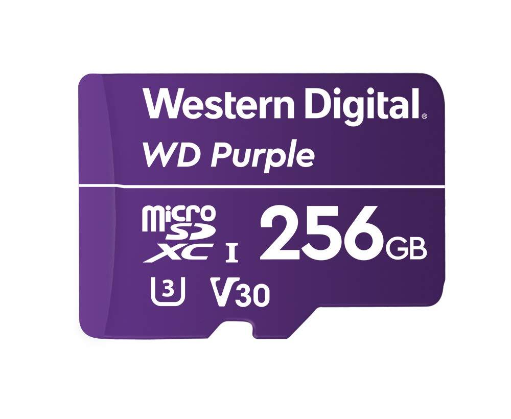 Western Digital WDD128G1P0A mémoire Flash 256 Go MicroSDXC - Mémoires Flash (256 Go, MicroSDXC, 100 Mo/s, Violet)
