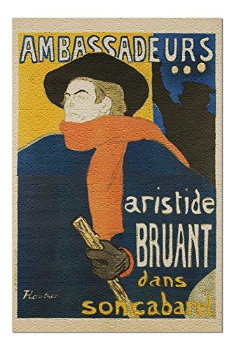 Ambassadeurs - Aristide Bruant Vintage Poster (artist: Toulouse Lautrec, Henri De) France c. 1895 (20x30 Premium 1000 Piece Jigsaw Puzzle, Made in USA!)