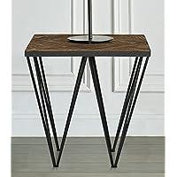 Magari Furniture GL1557 A Punta Reclaimed Elm Wood Side Table