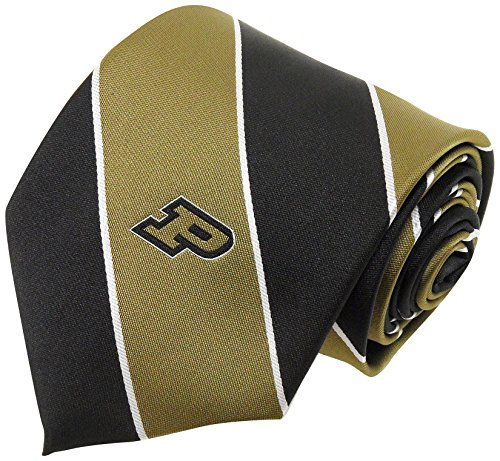 NCAA Purdue Boilermakers Striped Tie, One Size, Brown