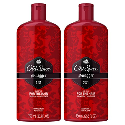 Old Spice, Shampoo and Conditioner 2 in 1, Swagger for Men, 25.3 fl oz, Twin Pack