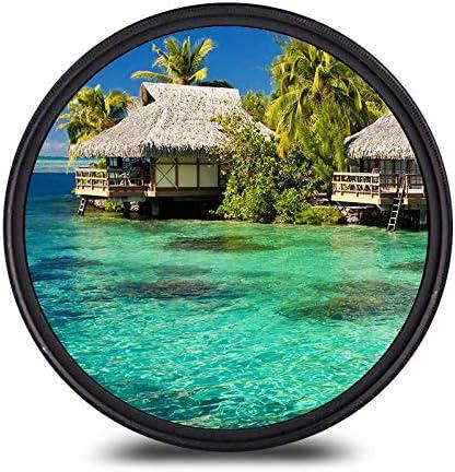 プロフェッショナルUV CPL FLDレンズ、高強度ガラスUVフィルター、レンズアクセサリー、カメラレンズ,62mm