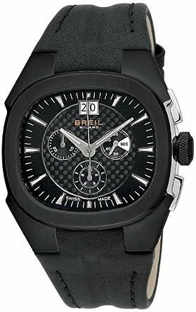 Breil Milano Eros BW0414 - Reloj de Caballero de Cuarzo, Correa de Piel Color Negro