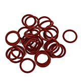uxcell 30Pcs Red 13mm x 1.5mm Silicone Rubber
