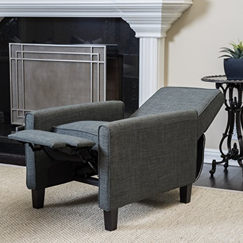 Christopher Knight Home Darvis Grey Fabric Recliner Club (Back Reclining Club Chair Frame)