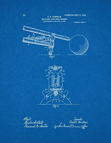 Billiard-And-Pool-Bridge-Patent-Print-Art-Poster-Blueprint