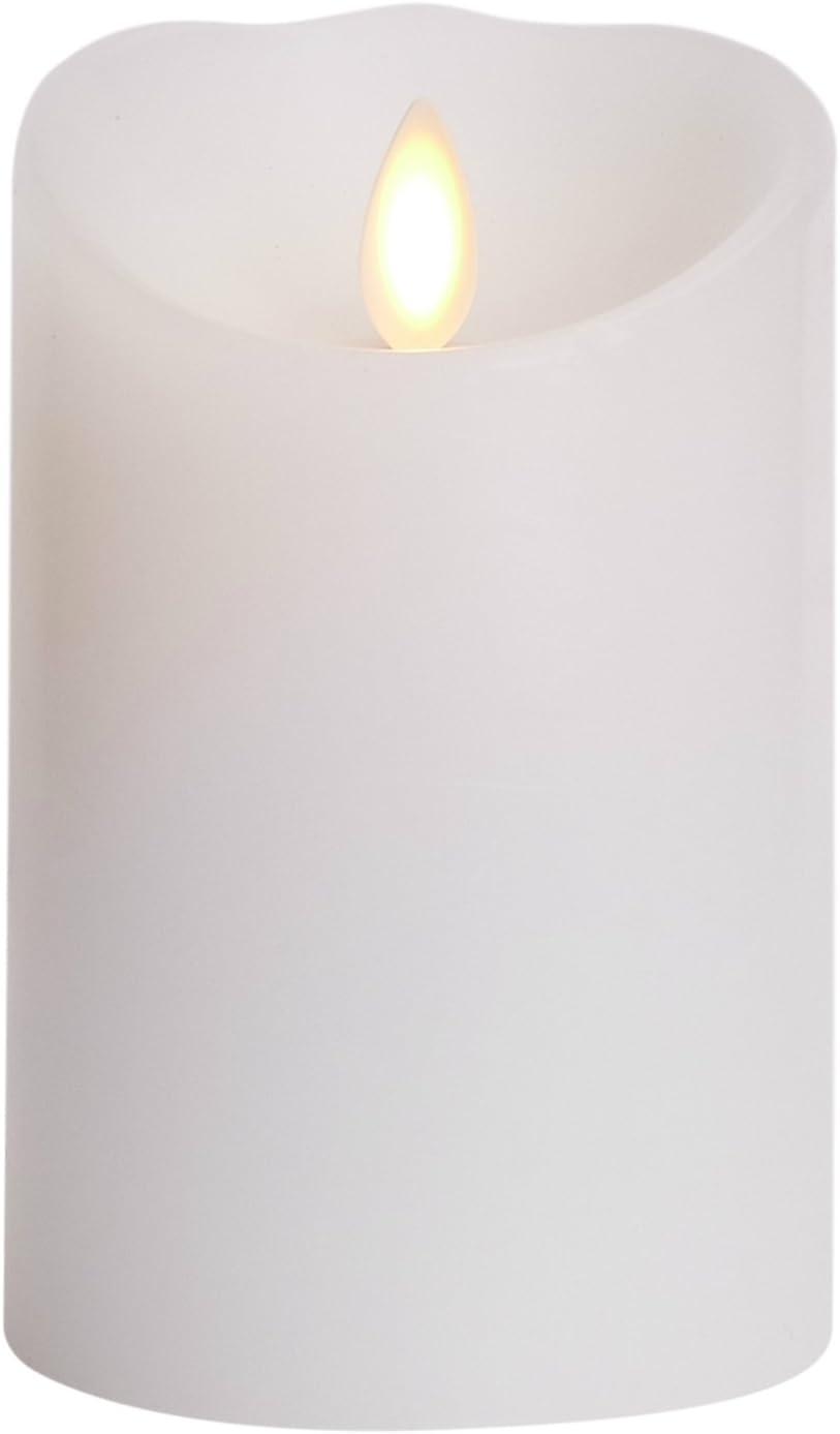 Luminara Classic Pillar 3 in. W x 4 in. H White No Scent