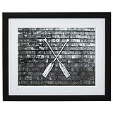 Stone & Beam Black and White Crossed Oars Photo, Black Frame, 13'' x 15''