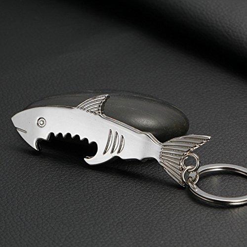 Drawihi portachiavi Squalo Apribottiglie A Forma de Shark come regalo per donne e uomini