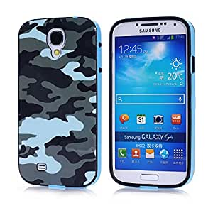 Voguesia Branch Pattern Plastic Hard Cover Camo Triple Hybrid Silicone Case for Samsung Galaxy S4 with Simple High-end Business Detachable Keychain Gift((Rose)) (LANSEMICAI)